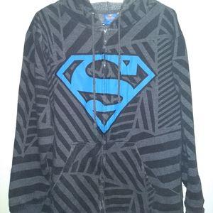 SUPERMAN HOODIE - Zip-Up Sweatshirt - Comic Logo